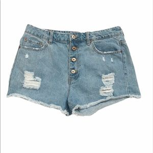 F21 HIGH RISE BUTTON FLY FESTIVAL SHORTS size 30